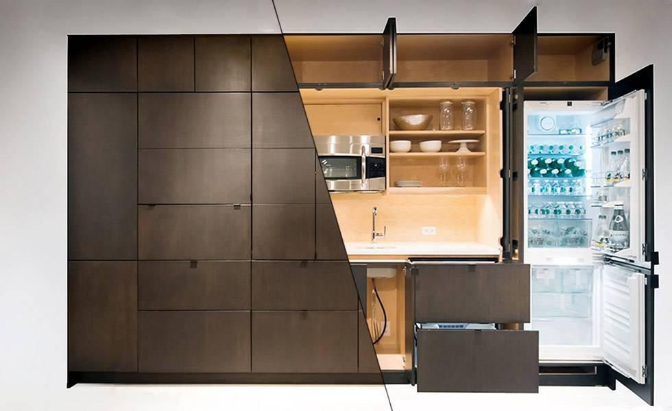 Мебель скрытая кухня